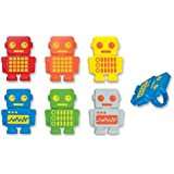 DecoPac Robot Party Cupcake Rings (12 Count)