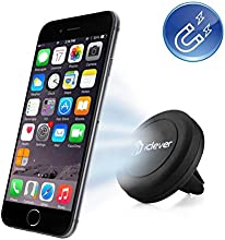 Car Mount, iClever® IC-CH05 Air Vent Universal Smartphone Magnetic Car Mount Holder Cradle for Apple iPhone 6 6 Plus, iPhone 5S 5C 5 4S, Samsung Galaxy S6 Edge, S6 S5 S4 S3, Nexus 5 4, HTC One M9 M8 and MP3 MP4 PDA GPS, Black