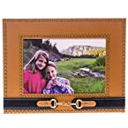 4x6 Caramel Faux Leather Picture Frame