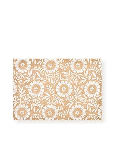 KAF Home Set of 4 Colette Jute Placemats, White
