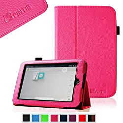 FINTIE (Magenta) Slim Fit Folio Case for Barnes & Noble Nook HD 7 inch Tablet (Support Auto Sleep/Wake Function) - Multi Color Options