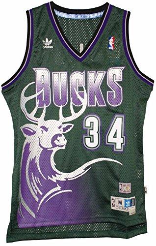 Ray Allen Milwaukee Bucks Adidas NBA Throwback Swingman Jersey - Green