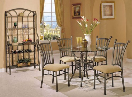 Picture of Acme Furniture 5-piece Dinette Set By Acme Furniture (VF_AZ01-13217) (Dinette Sets)