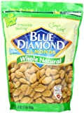 Blue Diamond Almonds Whole Natural, 16-Ounce Bags (Pack of 3)