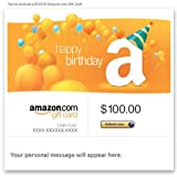 Amazon Gift Card - E-mail - Happy Birthday (Balloons)