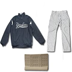 Mike Harkey 2013 Team Issued Set - Home Heavy Jacket & Pinstripe Pants With Mini... by Steiner Sports