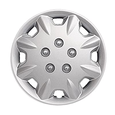 1996-1997 Honda Accord 14 Inch Silver Metallic Clip-On Hubcap Covers
