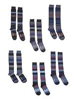 New Balance Pack x 6 Calcetines Nbu103 (Azul / Gris)