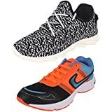 Earton COMBO Pack Of 2 Pair Men/Boys Multi & Orange Sports Shoes (Running Shoes)