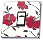 Red Floral Light Switch Sticker vinyl...