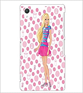 PrintDhaba Beautiful Girl D-1180 Back Case Cover for SONY XPERIA Z3 (Multi-Coloured)