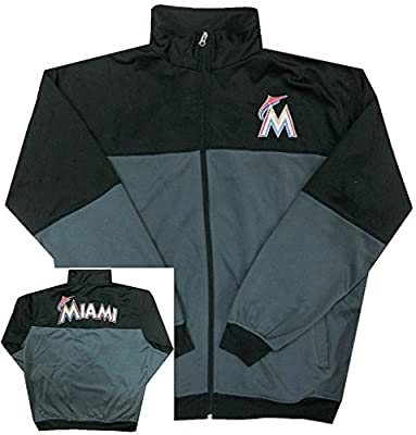 Miami Marlins MLB Majestic Mens 2-Tone Track Jacket Big & Tall Sizes