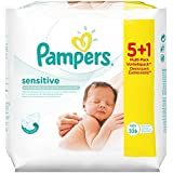 Pampers Feuchte Tücher Sensitive Promopack 5 Packungen + 1 Gratis, 2er Pack (2 x 336 Tücher)