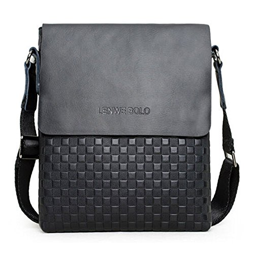 Casual Male Business One Shoulder Cross-body Bag Men Shoulder Bag (Black)