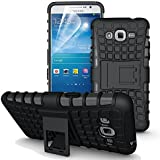 DiGi-Kick Stand Tough Hybrid Armour Shockproof Hard PC + TPU Back Case Cover For Samsung Galaxy J7 (2015)- Rugged...