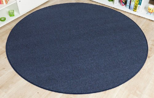 imut gesch ft schlingen teppich torronto blau rund gr e ausw hlen 200 cm rund get rabate. Black Bedroom Furniture Sets. Home Design Ideas