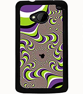 ColourCraft Pattern Design Back Case Cover for HTC ONE M7