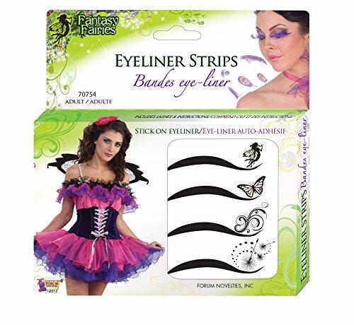 Forum Novelties Women's Adhesive Eyeliner Strips Kit, Multi, One Size - 1