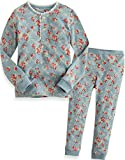 [Vaenait Baby]キッズ12ヶ月-9歳綿100%ルームウェア長袖パジャマ寝間着上下セット Long Lacy Blue 120