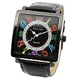 [ブラックジョーカー]腕時計 ダイヤモンド&Swarovski(スワロフスキー) ザ・ルーレット イタリア革ベルト メンズ