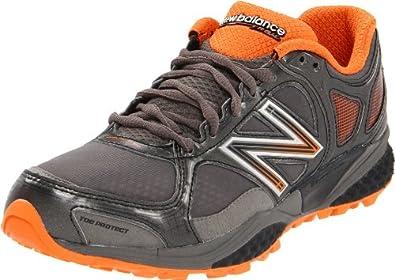New Balance Men's MT1110 Trail Running Shoe, Grey/Orange, 9.5 D US