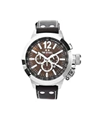 TW Steel Men's CE1012 CEO Canteen Brown Leather Brown Chronograph Dial Watch