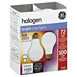 GE Light Bulbs, Halogen, Bright Crisp Light, 72 Watts, 2 bulbs