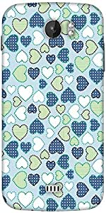 Snoogg Crystals Colourful Designer Protective Back Case Cover For Micromax A110