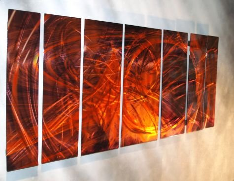 102×36 Metal Wall Artwork – Unique holographic effect from hand sanding!, modern home decor, metal wall sculpture, contemporary wall art
