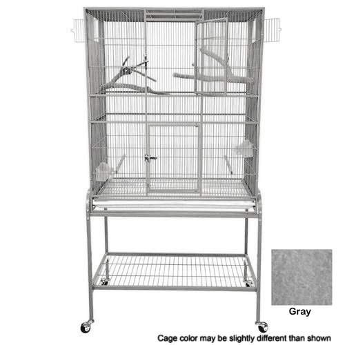 KING'S CAGES Superior Line Extra Large Flight Cage SLFXL 3221 PARROT CAGE 32x21x62 bird toy canary finch parakeet sugar glider (GRAY/SILVER) (Extra Large Flight Cage compare prices)