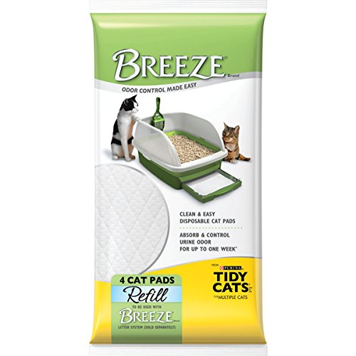 Tidy Cats Cat Litter, Breeze, Litter Pad Refill, Unscented, 4 Count Pouch, Pack of 10 (Breeze Litter Refill compare prices)