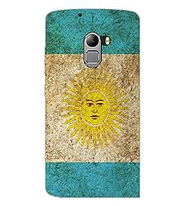 PrintDhaba SUN D-5174 Back Case Cover for LENOVO K4 NOTE A7010a48 (Multi-Coloured)
