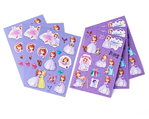 Disney Sofia the First Sticker Sheets, 6 Count,  Party Supplies - 1