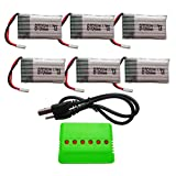BTG 3.7V 680mAh Battery 6PCS & 6 In 1 Battery Charger for Syma X5C X5SW X5C-1 X5SC X5SC-1