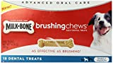 Milk-Bone Brushing Chews Daily Dental Treats - Small/Medium Value Pack, 14.14 Ounce - 18 Bones