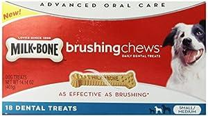 Milk-Bone Brushing Chews Daily Dental Treats - Small/Medium Value Pack, 14.14 Ounce - 18 Bones