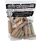 Coin-Tainer Assorted Quarter, Dimes, Nickels, Pennies, Coin Wrappers, Pack of 36
