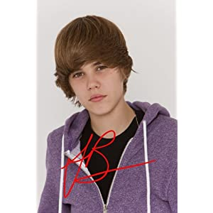 Justin Bieber Autograph on Amazon Com  Justin Bieber Autograph Signed 4x6 Photo Reprint