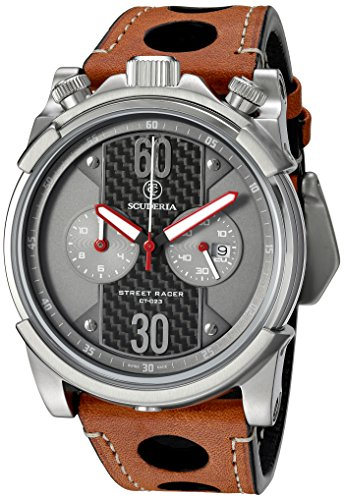 CT-Scuderia-Mens-CS10138-Street-Racer-Analog-Display-Swiss-Quartz-Brown-Watch