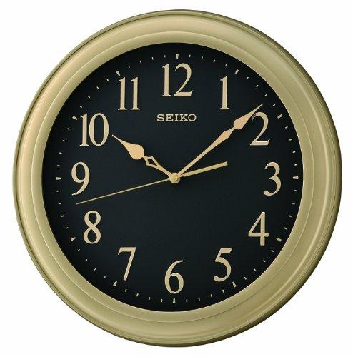 Large classic seiko quartz wall clock gold plastic case for Seiko quartz wall clock