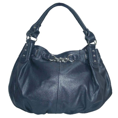 Large Slouchy Hobo Handbag (Navy Blue)