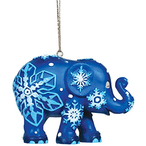 Westland Giftware Elephant Parade Resin Ornament in Tin Window Box, Snowflakes