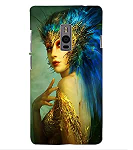ColourCraft Fantasy Girl Design Back Case Cover for OnePlus Two
