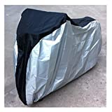 Exlight Bike Cover Polymer Fabric Extra Heavy Duty Bicycle Bike Cover Meshed Air Vents Mountain Road Electric and Cruiser Bikes As Well Durable Tamper Proof Weatherproof Black And Silver In Color