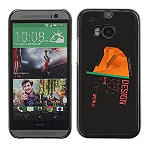 Omega Covers - Snap on Hard Back Case Cover Shell FOR HTC ONE ( M8 ) - Design Is How You See The World