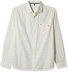 United Colors of Benetton Men's Casual Shirt (8903975161238_16P5AC69U008I_L_White)