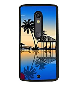 Fuson Premium 2D Back Case Cover Coconut tree With Multi Background Degined For Motoroal Moto X Style::Moto X Pure Edition