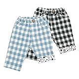 Bobson(ボブソン) クロップドパンツ (80~130cm) キムラタンの子供服 (77150x77650-161b) ブラック 100 ランキングお取り寄せ