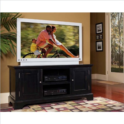 Home Styles Furniture Bedford Wood LCD/Plasma TV Stand in Ebony
