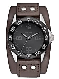 s.Oliver Jungen-Armbanduhr Casual Analog Quarz Leder SO-2519-LQ